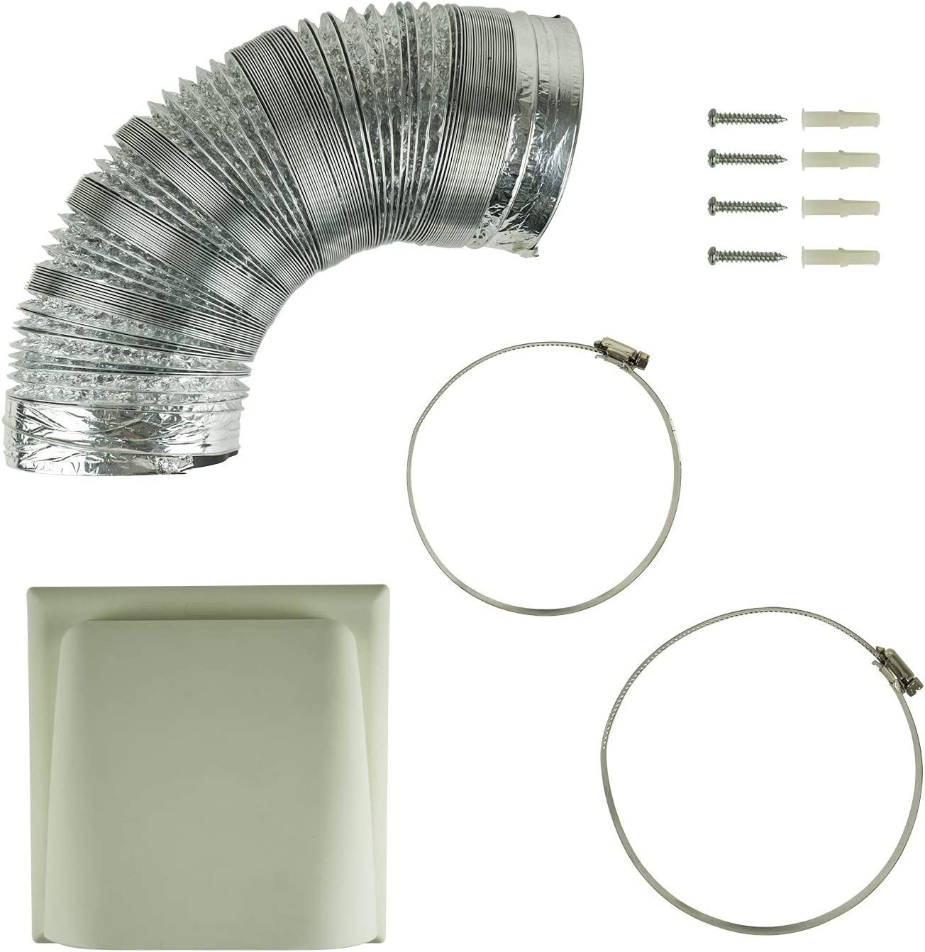 Universal 120mm 125mm Kitchen Cooker Hood Ducting Kit With Cowl Vent 3m Length Amazon Co Uk Kitchen Home