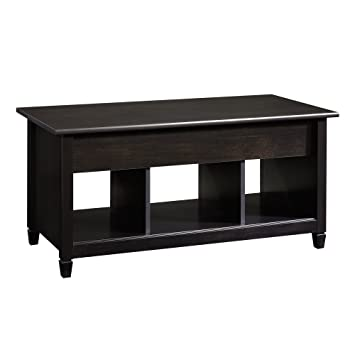 Sauder Edge Water Lift Top Coffee Table, Estate Black Finish