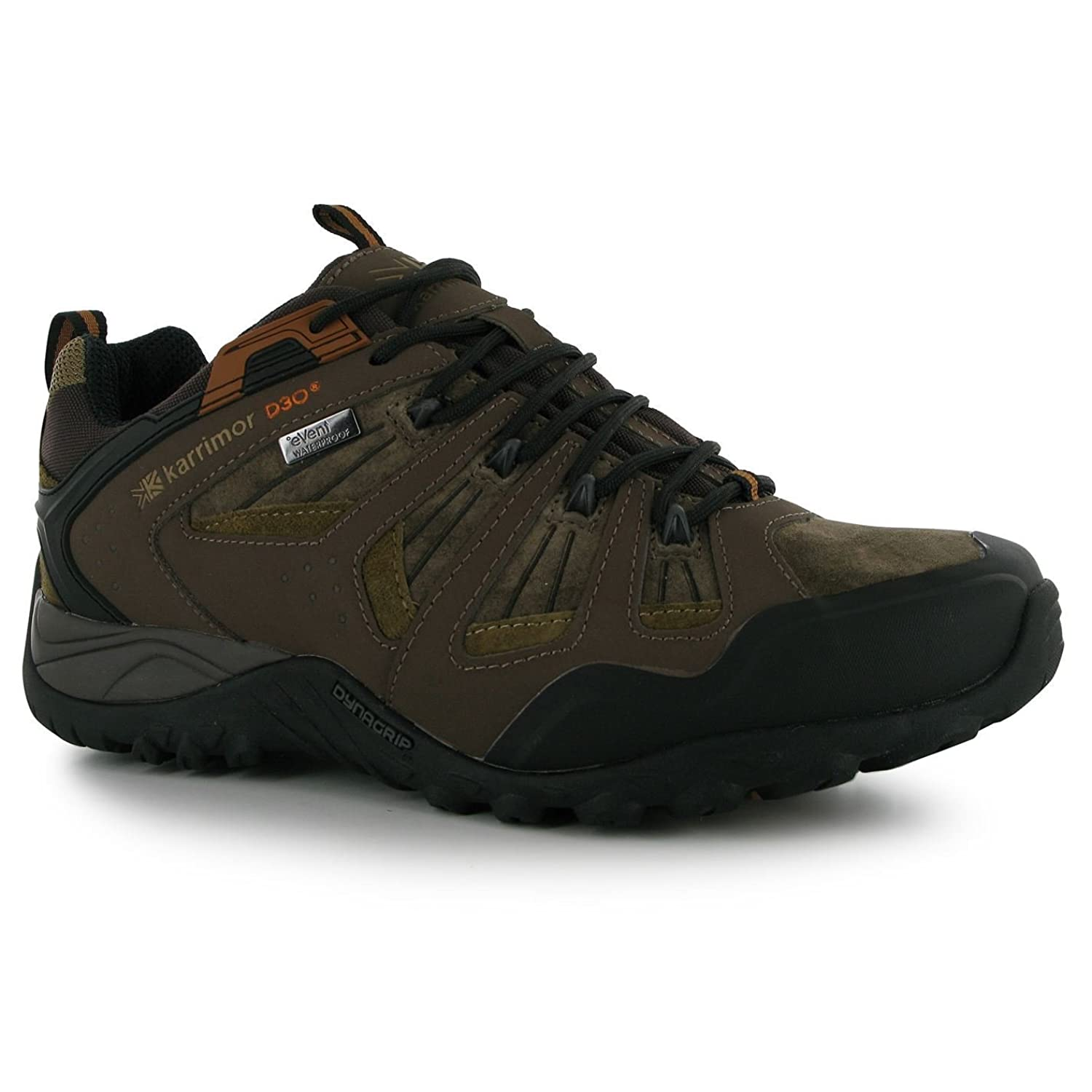 Karrimor Mens Arete Walking Shoes Dynagrip Sole Hiking Outdoor Lace Up Footwear Brown 10.5(44.5)