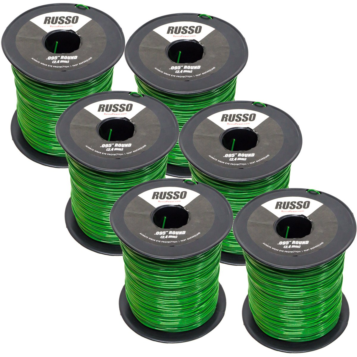 6 Pack 095 Round 5lb Commercial String Trimmer Line Echo Stihl RedMax