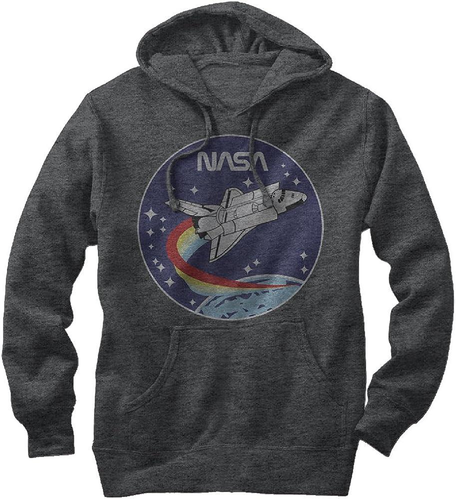 NASA Approved Meatball Logo Graphic Space Vintage Mens Fleece Hoodie Sweatshirt