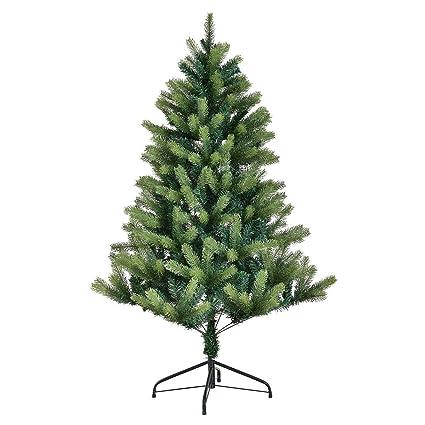goplus 5ft artificial christmas tree pe pvc mixed needles carolina pine tree with metal stand