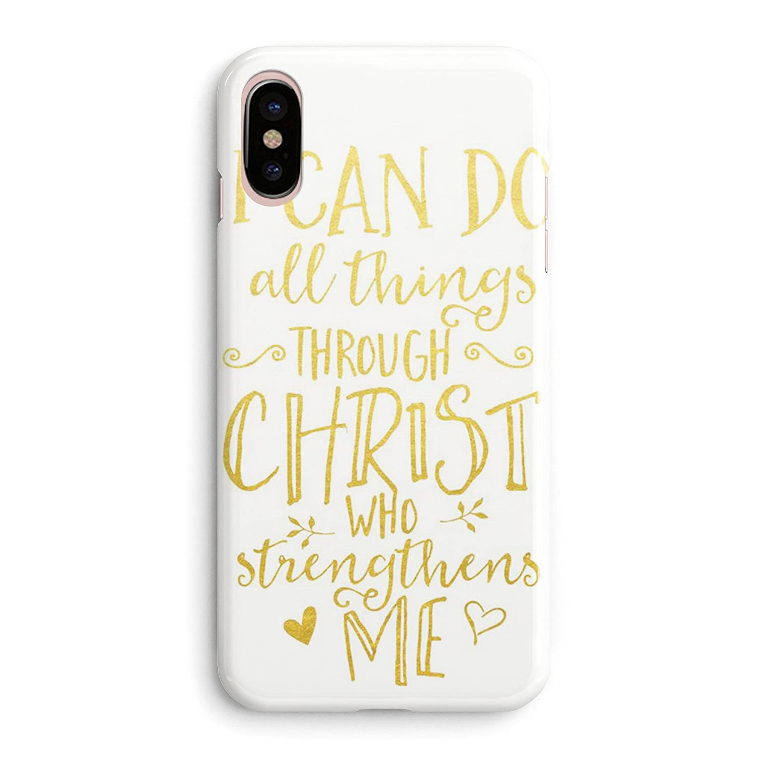 iPhone XR Case Girls Women Life Power Quotes Cute Women Bible Verses Quotes  Life Christian Inspirational Motivational I Can Do All Things Soft Clear ...