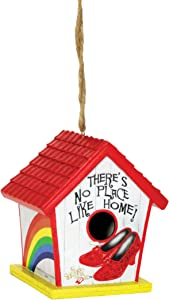 Spoontiques 10180 Ruby Slippers Birdhouse, White