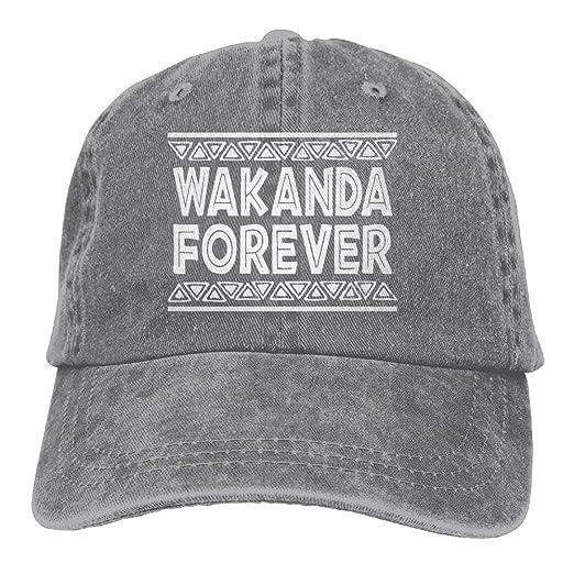 Wakanda Forever Adult Hats Unisex Fashion Plain Cool Adjustable Denim Jeans  Baseball Cap Cowboy at Amazon Men s Clothing store  610afda4d5c