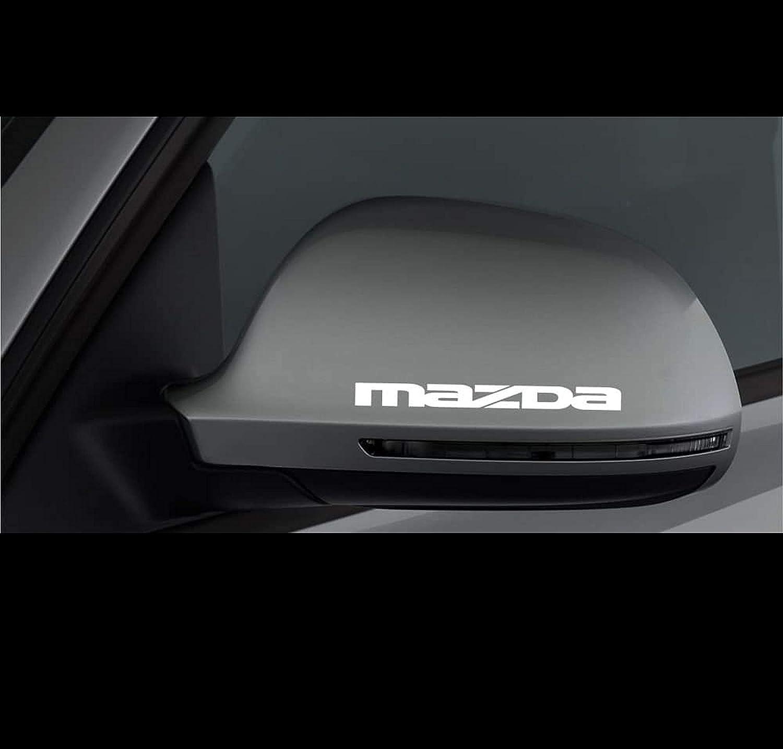 Myrockshirt 2 X Spiegel Aufkleber Spiegelaufkleber Mazda Aufkleber Autoaufkleber Auto Tuning Sticker Aufkleber Mit Montage Set Inkl Estrellina Montage Rakel Estrellina Glücksaufkleber Auto