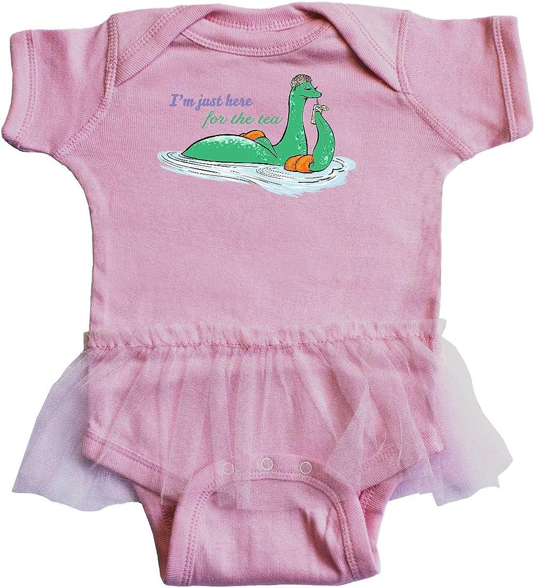 inktastic Loch Nessie Im Just Here for The Tea Infant Tutu Bodysuit