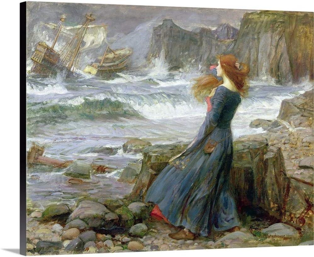 """Miranda, 1916 Canvas Wall Art Print, 30""""x24""""x1.25"""""""