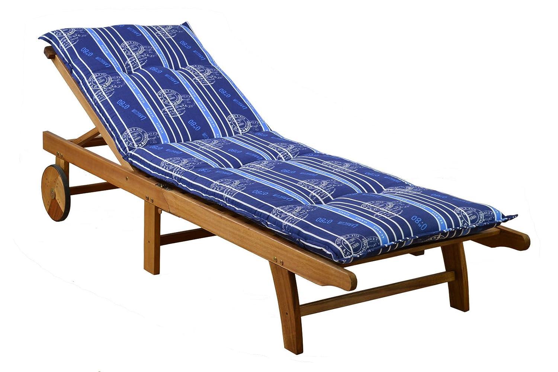 /100/ senza sedia 6/poltrone cuscini 8/cm spessore 103/cm di lunghezza in blu Ibiza 20578/