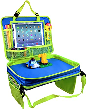 Kids Travel Tray 4 In 1 Car Seat Play TrayBackseat Storage Organizer