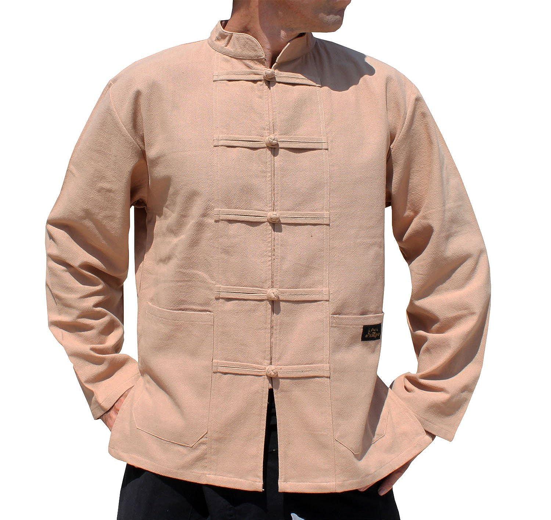 【あすつく】 RaanPahMuangブランド暖かいコットンProfessional Chinese Mandarinジャケットシャツ Small|タン タン B0725N2JYN Small|タン ブラウン Chinese タン ブラウン Small, e-SHOPキャリオール:616f5607 --- synnexsoftech.com