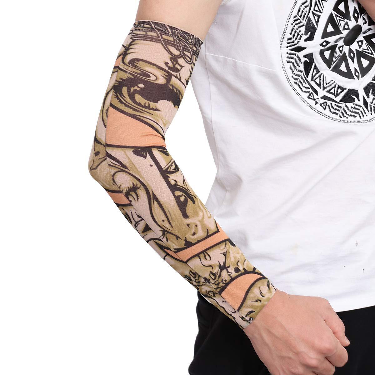 Vosarea Sun Protección UV Cubierta del Brazo Falso Tatuaje ...