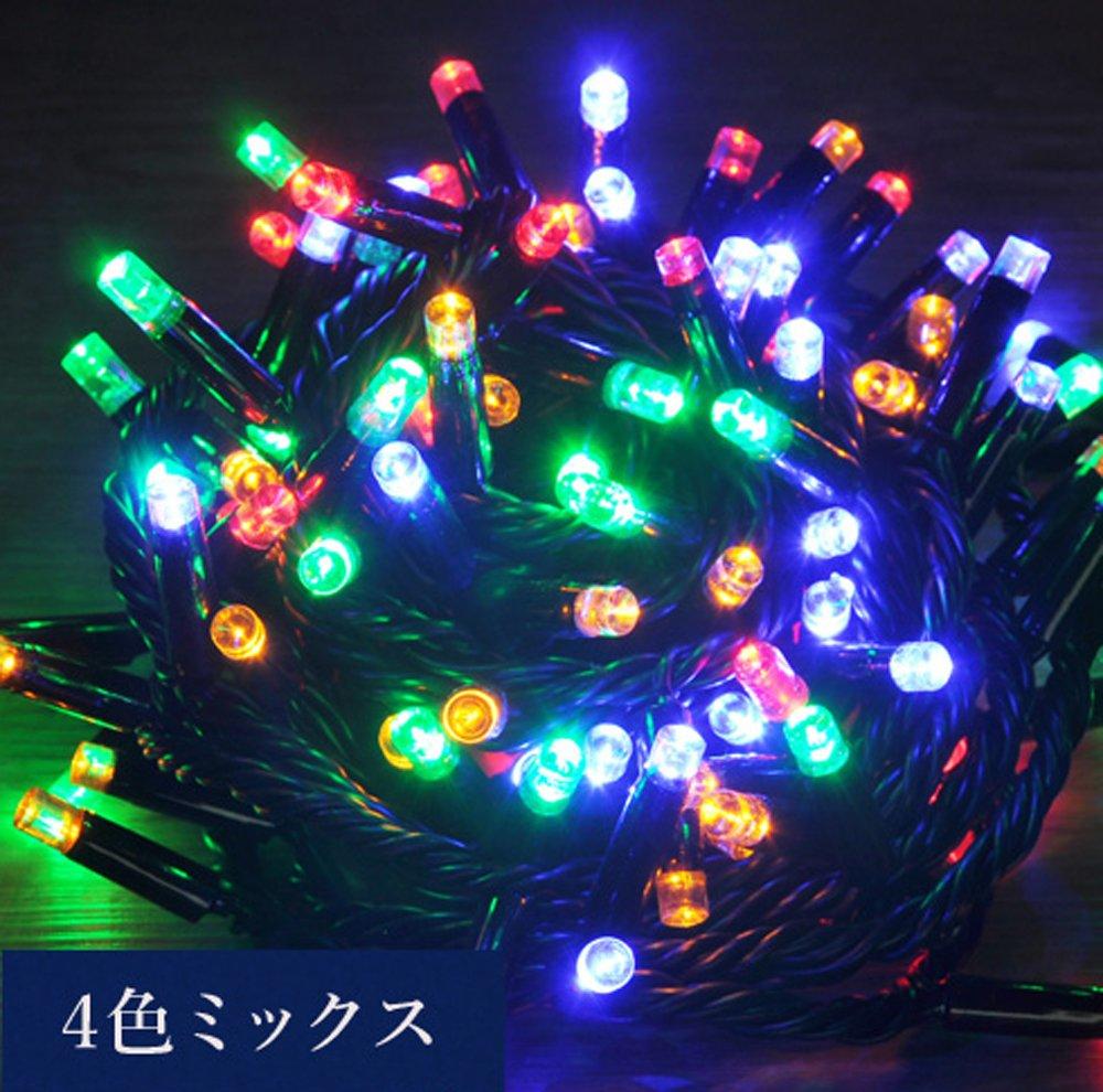 iimono117 高輝度 LED イルミネーション [ 6m ~ 120m ] 完全防水 IP65 屋内外装飾 (30m(500球), 4色ミックス) B076D4PTR4 12400 30m(500球)|4色ミックス 4色ミックス 30m(500球)