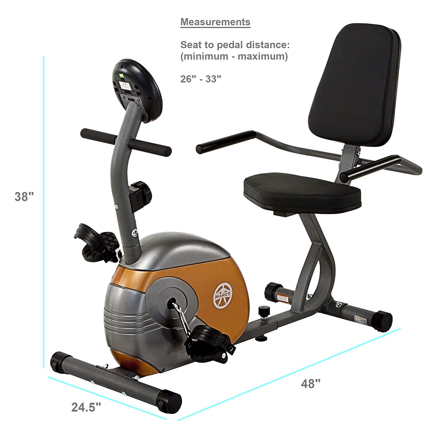 Recumbent Resistance Exercise Bike by Marcy ME-709
