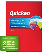 $44 » Quicken Deluxe 2019 Personal Finance & Budgeting Software [PC/Mac Disc] 1-Year Subscription + 2 Bonus Months [Amazon Exclusive]