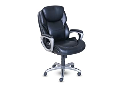 O Serta My Fit Executive Office Chair With Active Lumbar Support Black