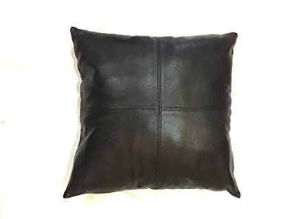 Wondrous Thick Genuine Leather Pillow Cover Black Decorative For Couch Throw Pillow Case Black Leather Cushion Cover Solid Color 18X18 Pabps2019 Chair Design Images Pabps2019Com