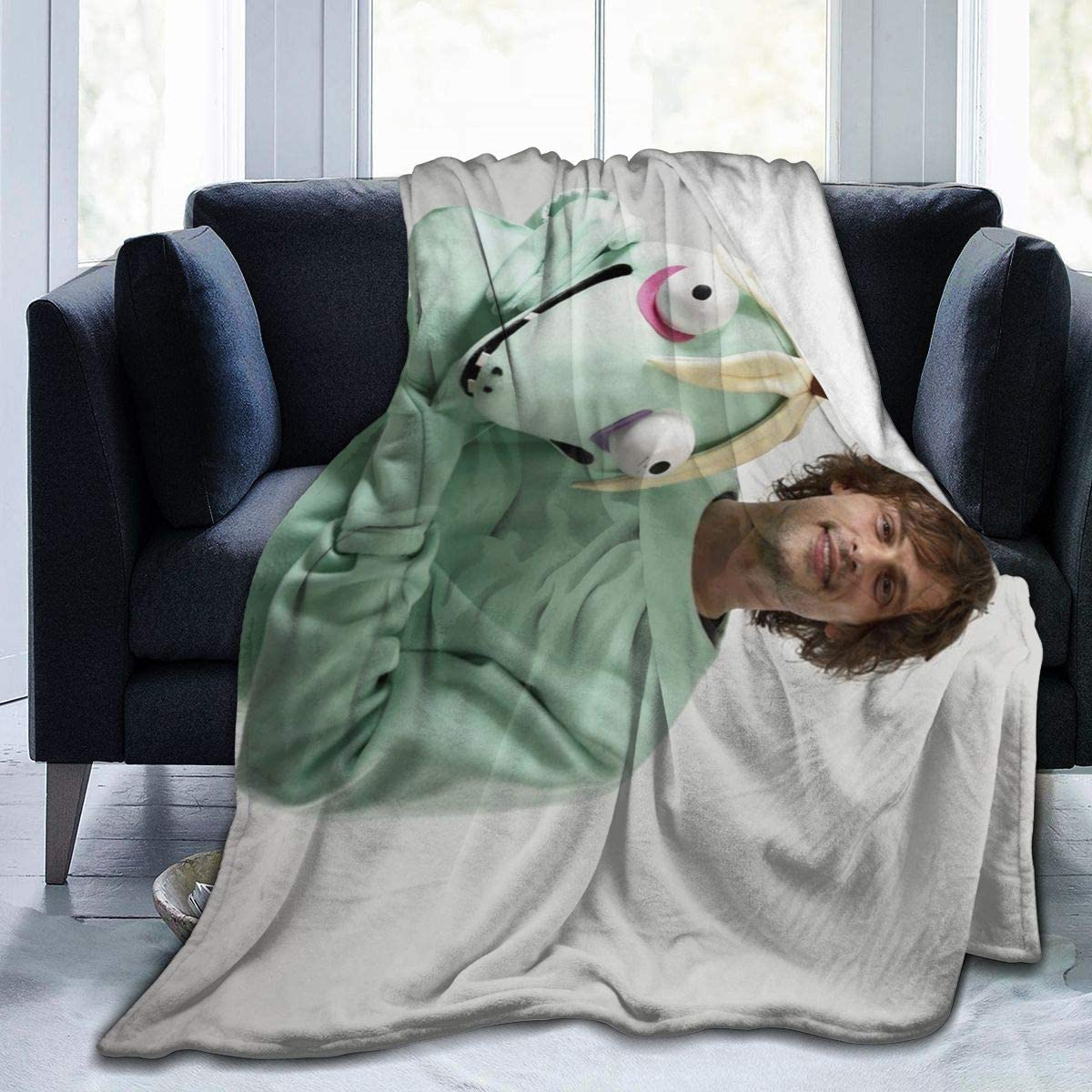 Sadie Mae Matt-hew Flannel Fleece Blanket Lightweight Soft Warm Cozy Throw Blanket Home Decor for Couch, Bed, Sofa, Travel 50x40inch
