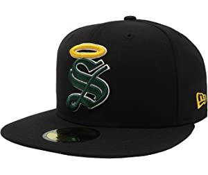 New Era 59Fifty Hat Santos Laguna Soccer Club Mexican League Black Headwear Cap