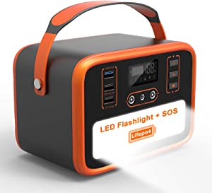 NECESPOW Portable Power Station,161Wh/50400mAh Solar Generator,Lifepo4 Battery Power Supply with 150W(Peak 300W) AC Outlet QC3.0 SOS Flashlight for CPAP Camping Travel Outdoor Home RV Emergency