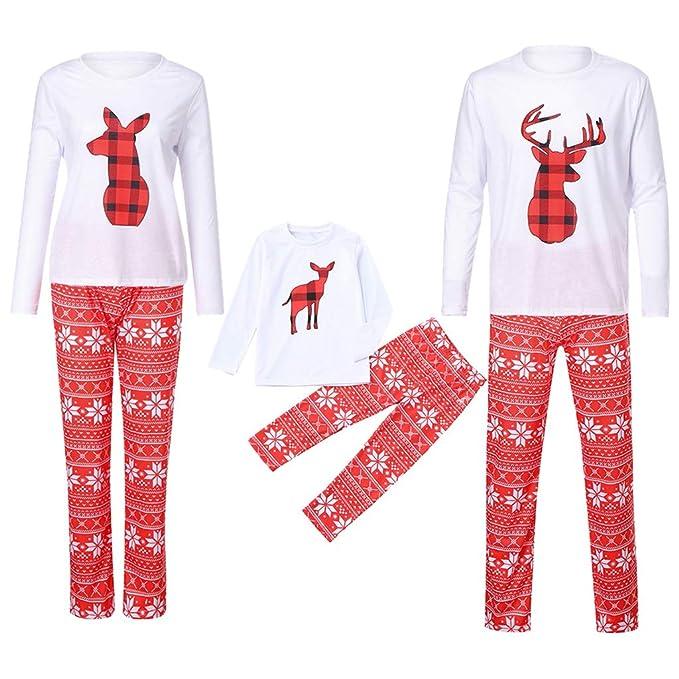 fce4af473 POLP Niño Navidad Santa Claus Ropa niñas Unisex Pijama Bebe Navidad Regalo  Estampado de Navidad Manga ...