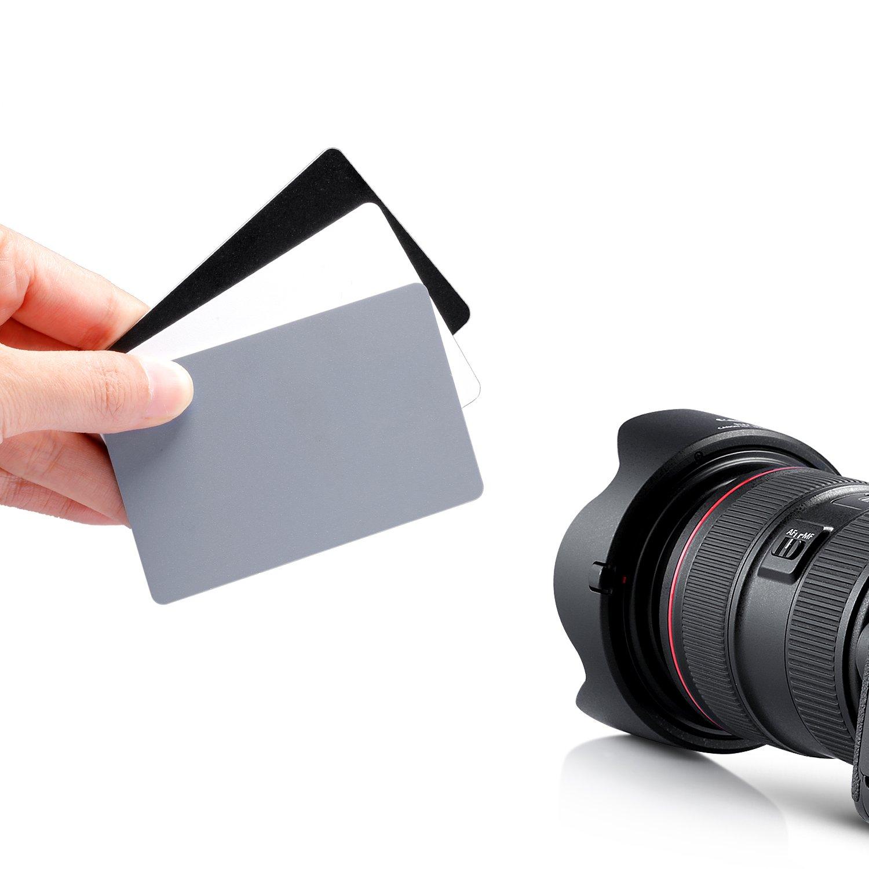 Neewer 4 x 12,7 cm Balance de Blancos Gris Tarjeta de Premium Correa de fijación para Digital y fotografía Protector de Pantalla
