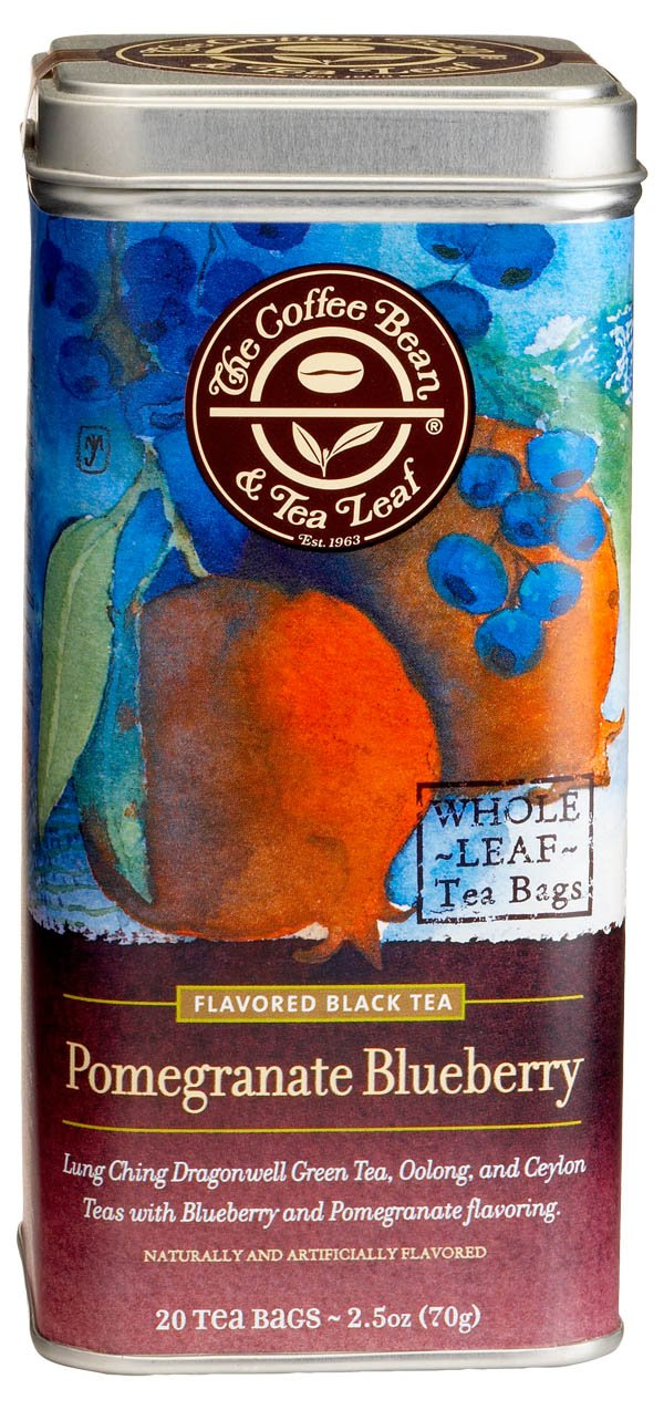 The Coffee Bean & Tea Leaf Pomegranate Blueberry Green, Oolong, Black Teas, 20-Count Filter Bags by Coffee Bean & Tea Leaf