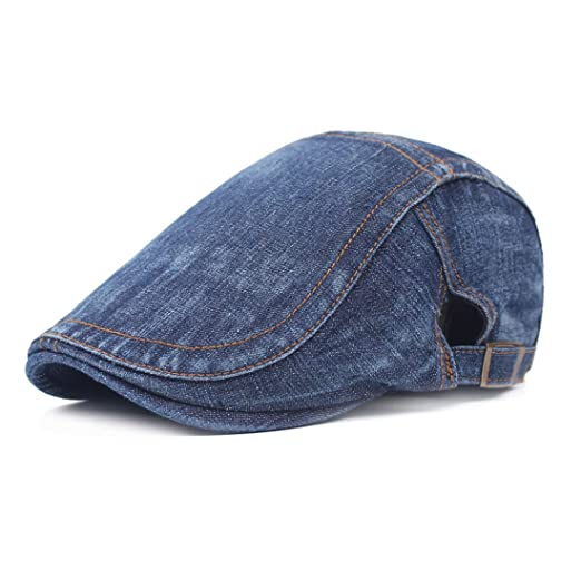 cf461ab4305 King Star Men Cotton Flat Cap Hat Ivy Irish Cabbie Newsboy Scally Cap Dark  Blue 1