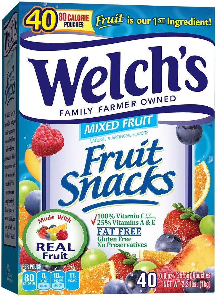 Welch's Mixed Fruit Snacks, 40 Count (Pack of 1)