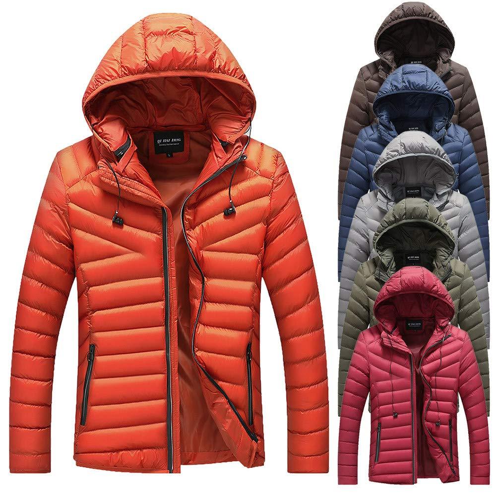TOPUNDER Autumn Winter Jacket Overcoat Outwear Slim Long Trench Zipper Caps Coat Men