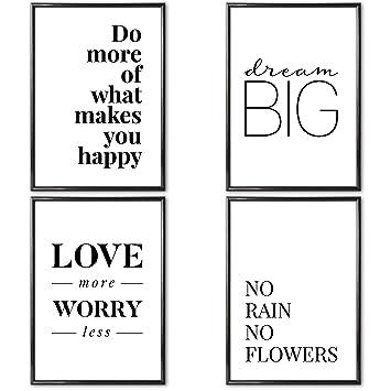 Verschiedene Poster Set S Love More 4 X Din A3 Ohne