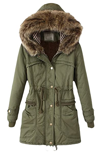 ba018331ee07 Biwinky Women Winter Thicken Warm Hooded Packable Down Jacket Coat (US 10