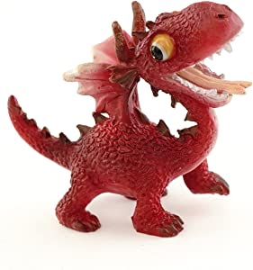 Top Collection Miniature Fairy Garden and Terrarium Mini Red Dragon Figurine