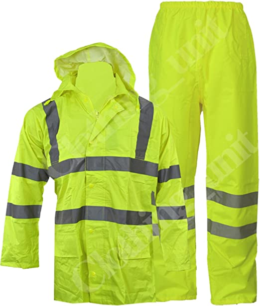 Hi Vis Viz alta visibilità abbigliamento da lavoro sicurezza Sopra I Pantaloni Pantaloni Impermeabile