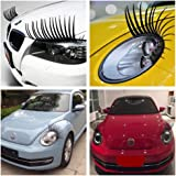 Silence Shopping Black Stereoscopic Car Lashes Headlight Eyelashes Accessories Car Light Eyelash Sticker Decal Car 3D Sticker
