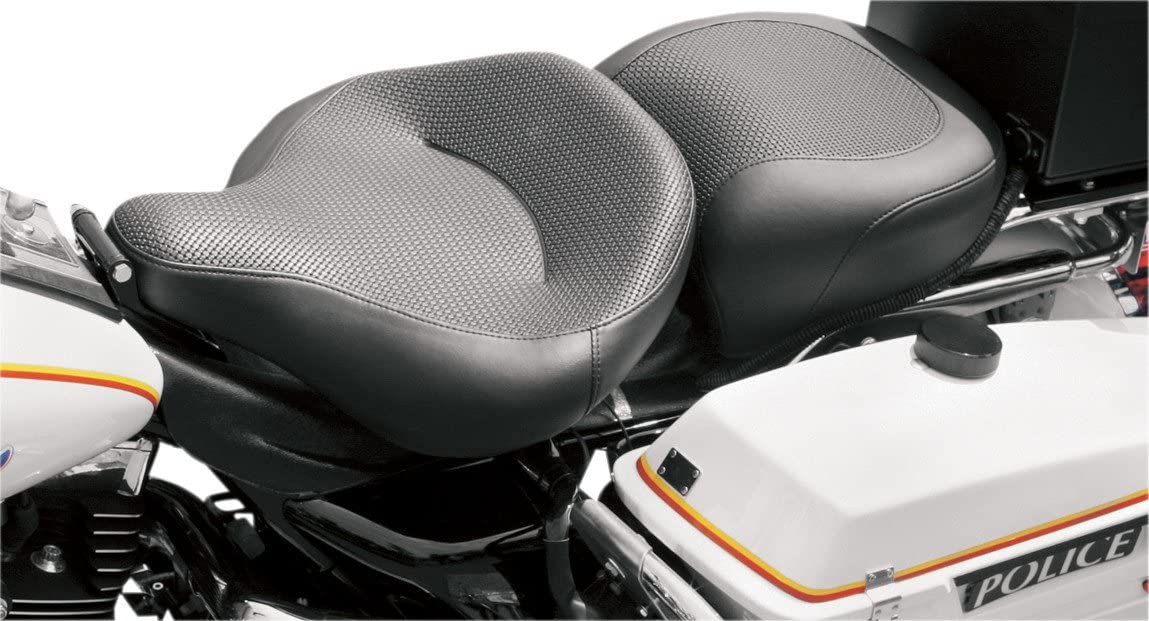 / 07 Selle Passager Police Textured by mustang Harley Davidson Road King 97/