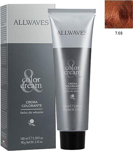 Allwaves Professional Cream Color 7.03 - Tinte para el ...