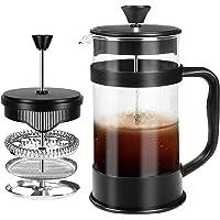 Fransk kaffepress, svart - 1000 ml / 1 liter / 8 koppar (34 oz) Espresso- och tebryggare med trippelfilter, kolv i…