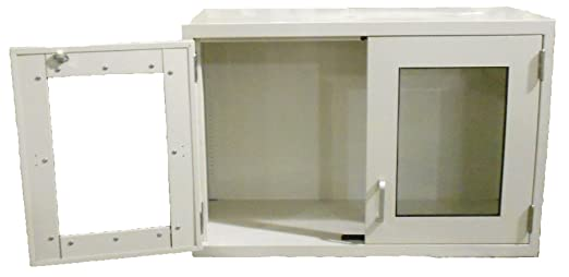 Labdesign 7705 29 Steel Wall Cabinet With 2 Hinged Framed Glass