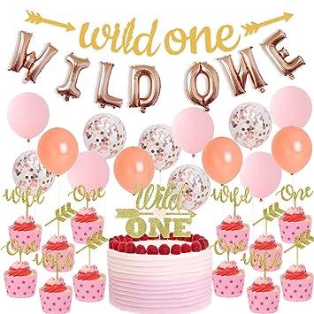JOYMEMO Decoraciones de la Fiesta de cumpleaños de Wild One ...