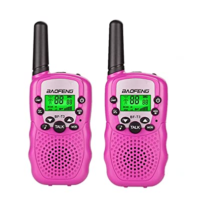 Amazon Kids Toys Walkie Talkies For Girls Children Youth 3 12 Year Old Gift Birthday Present Pink Car Electronics