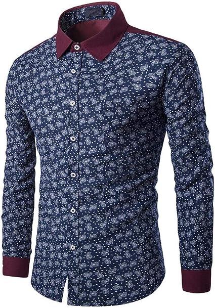 HX fashion Hombres Ropa Camisa De Hombre Moderno Blusa ...