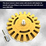 The Pin Force Decal Remover Wheel with 4 inch Drill Adapter | Rubber Eraser Blade for Removing Car Decals and Vinyl Stickers with Tool Kit | Double Sided Disc for Graphics Removal from Vehicles