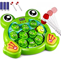 KKONES Music Super Frog Game Toddler Toys - 2 Hammers Baby Interactive Fun Toys Toddler Activities Games with Music…