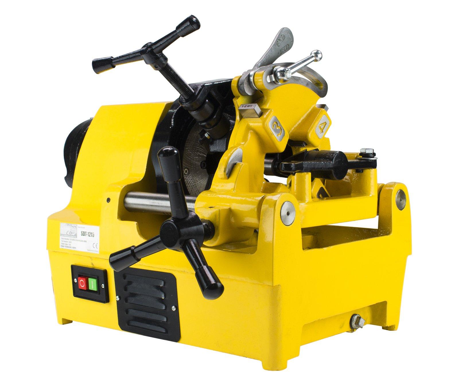 Steel Dragon Tools 1215 1-1/2'' Power Pipe Threader Threading Machine with 811A Self Oiling Die Head fits RIDGID 47770 47765 47745 47750 Dies