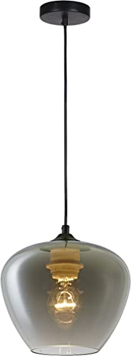 Summitland 8 inch Pendant with Nickel Plated Shade