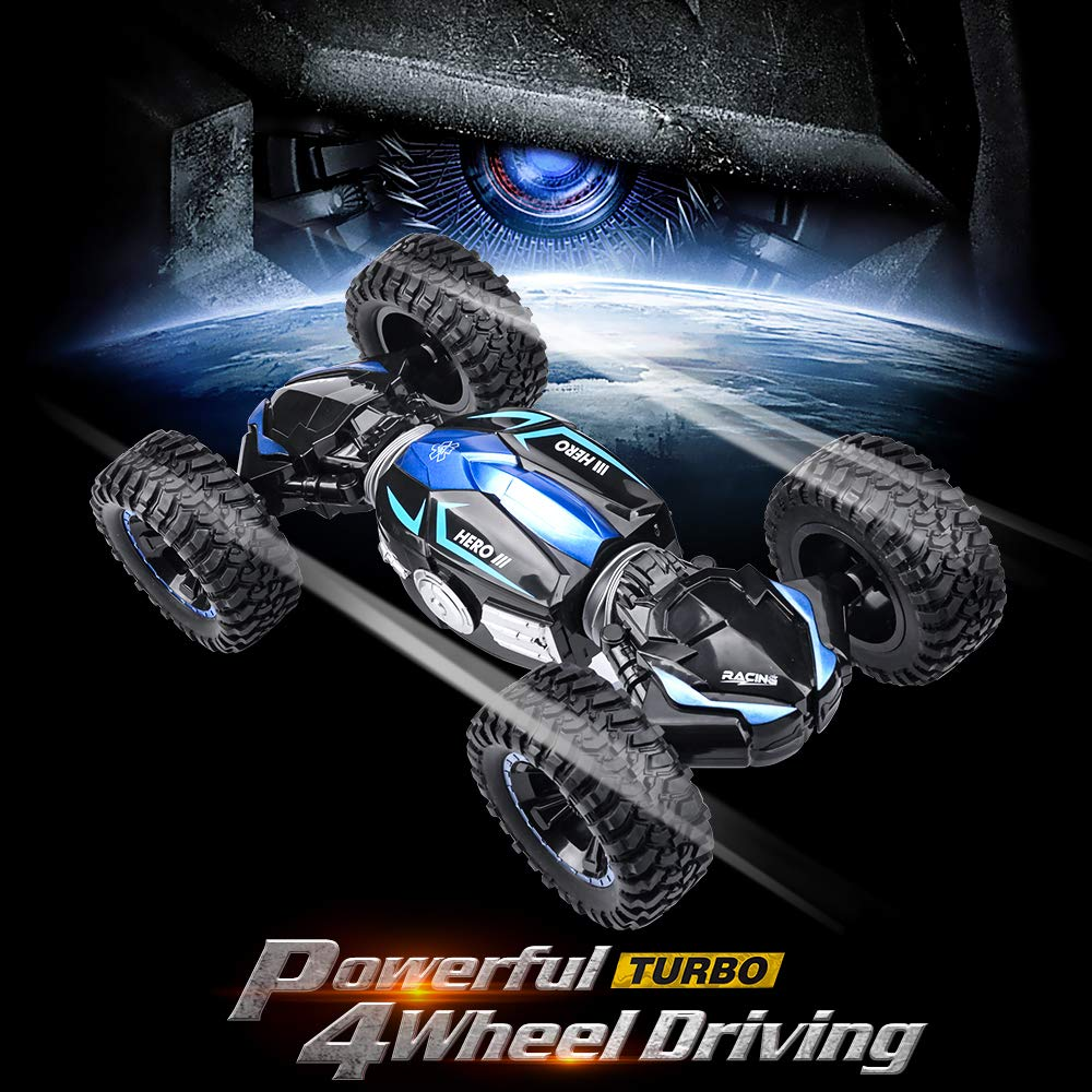 NQD RC Car Off-Road Vehicles Rock Crawler 2.4Ghz Remote Control Car Monster Truck 4WD Dual Motors Electric Racing Car, Kids Toys RTR Rechargeable Buggy Hobby Car by NQD (Image #5)