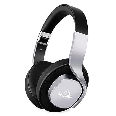 iDeaUSA auriculares Bluetooth – Auriculares inalámbricos, estéreo Mega Bass over Ear auriculares plegable y ligero