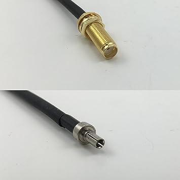 3 pies RG178 de largo a hembra SMA CRC9 macho Jumper Pigtail RF Cable coaxial 50