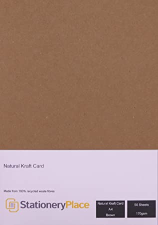 Amazon.com: Papelería tarjeta de lugar café Kraft Natural ...